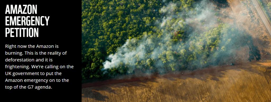 Amazon emergency petition WWF