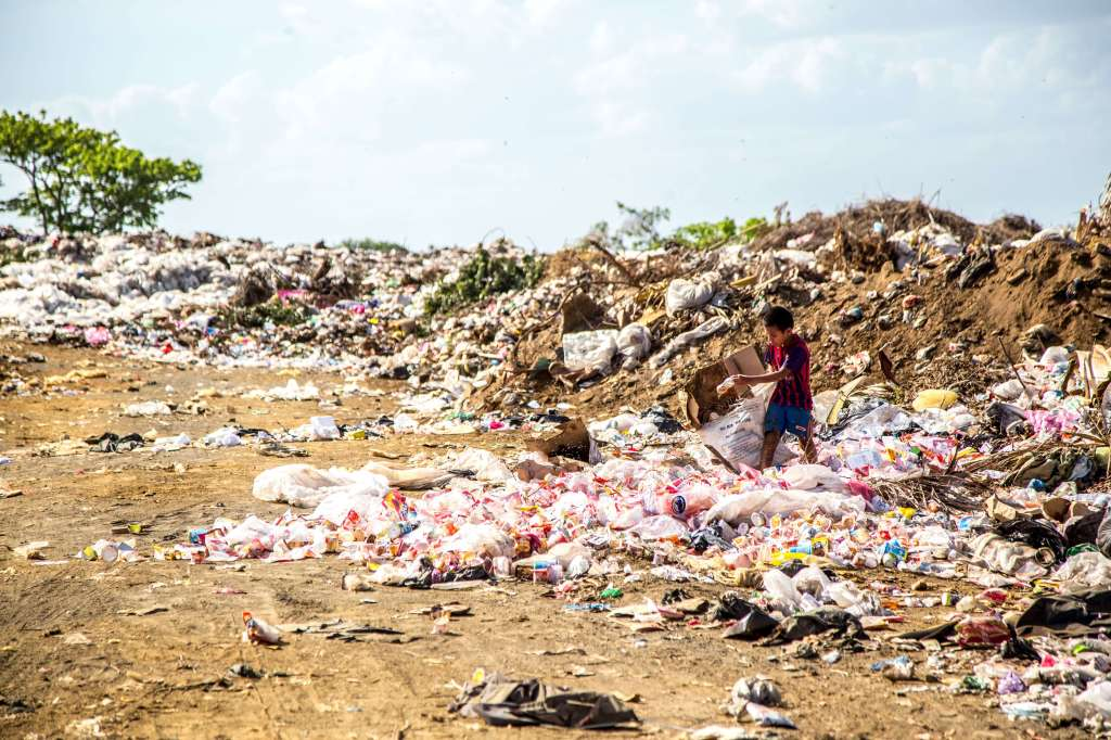Under a new UK law exporting plastic waste to developing countries will be banned